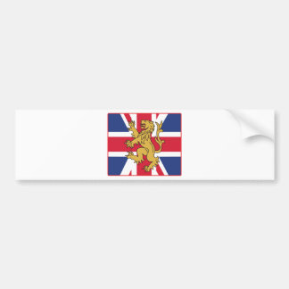 UK Flag Lion Bumper Sticker