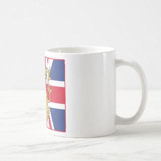 UK Flag Lion Classic White Coffee Mug