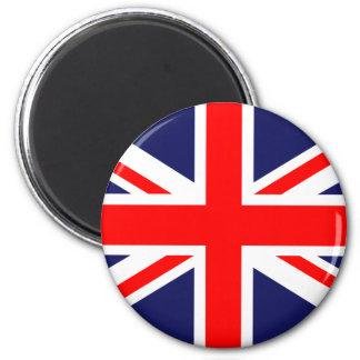 UK Flag 6 Cm Round Magnet