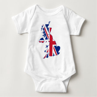 UK Flag Map Baby Bodysuit