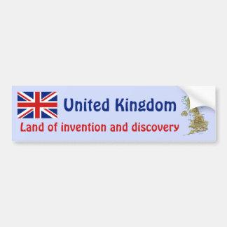 UK Flag + Map Bumper Sticker