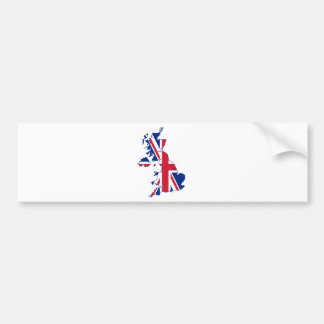 UK Flag Map Bumper Sticker