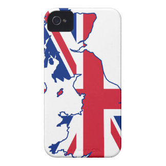 UK Flag Map Case-Mate iPhone 4 Case