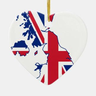 UK Flag Map Christmas Ornament