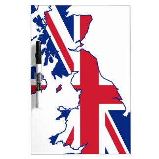 UK Flag Map Dry Erase Board