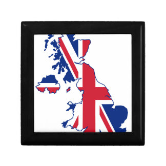 UK Flag Map Gift Box