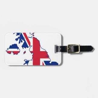 UK Flag Map Luggage Tag