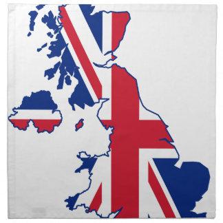 UK Flag Map Napkin