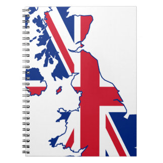 UK Flag Map Notebook