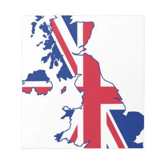UK Flag Map Notepad