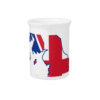 UK Flag Map Pitcher