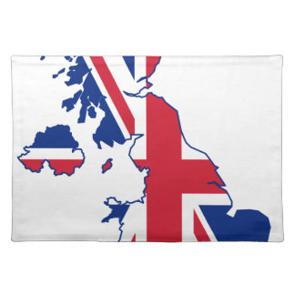 UK Flag Map Placemat
