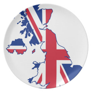 UK Flag Map Plate