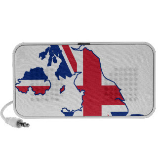 UK Flag Map Speakers