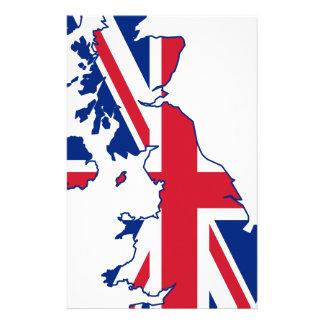 UK Flag Map Stationery