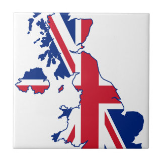 UK Flag Map Tile