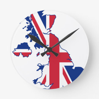 UK Flag Map Wall Clock