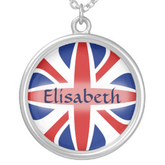 UK Flag + Name Necklace