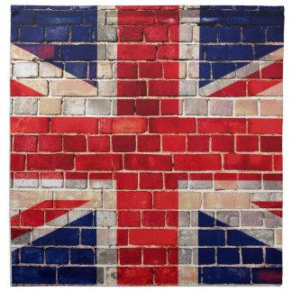 UK flag on a brick wall Napkin