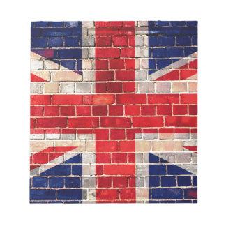 UK flag on a brick wall Notepad