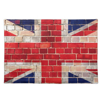 UK flag on a brick wall Placemat