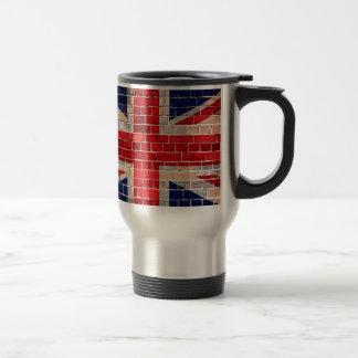 UK flag on a brick wall Travel Mug
