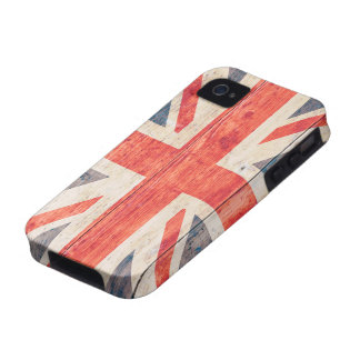 UK Flag on Wood Case For The iPhone 4