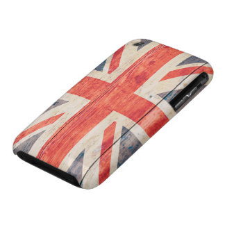 UK Flag on Wood iPhone 3 Cover