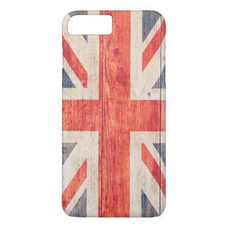 UK Flag on Wood iPhone 7 Plus Case