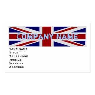 UK Flag Pack Of Standard Business Cards