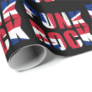 UK Flag Punk Rock Wrapping Paper