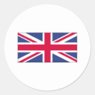 Uk Flag Round Sticker