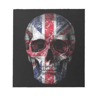 UK flag skull Notepad