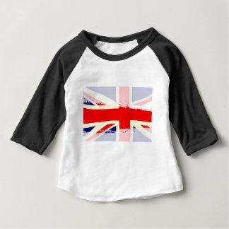 UK Flag Splash Baby T-Shirt