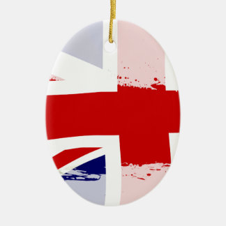 UK Flag Splash Christmas Ornament