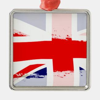 UK Flag Splash Christmas Ornament