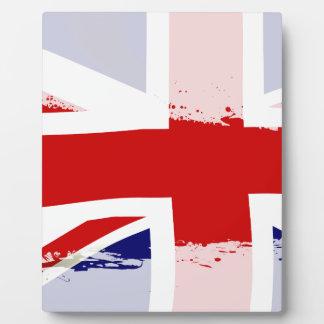 UK Flag Splash Display Plaques