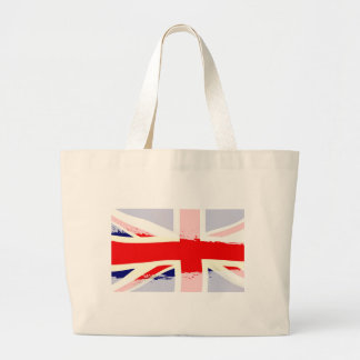 UK Flag Splash Large Tote Bag