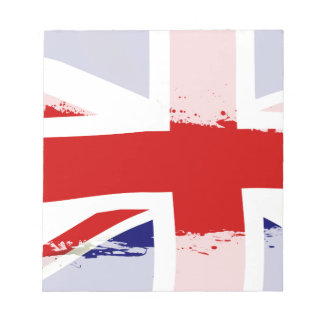 UK Flag Splash Notepad