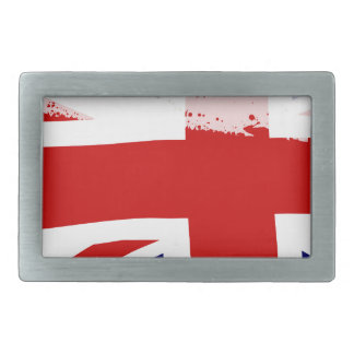 UK Flag Splash Rectangular Belt Buckle