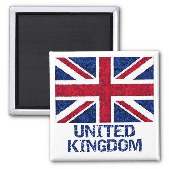 UK FLAG SQUARE MAGNET
