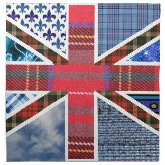 UK Flag Union Jack Fabric Patchwork Pattern Napkin