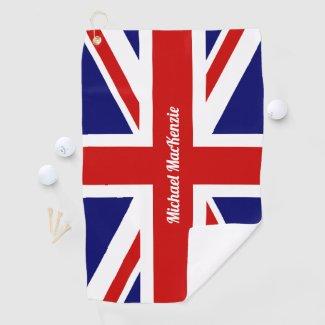UK Flag / Union Jack | Personalised Golf Towel