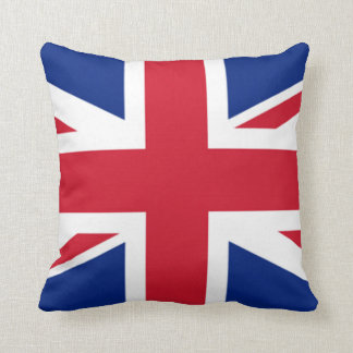 uk flag usa flag throw pillow double sided