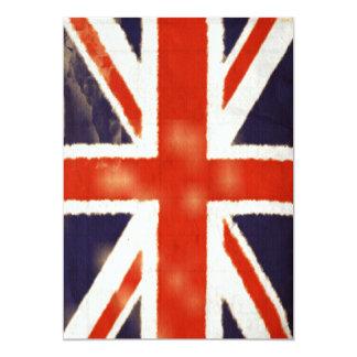 UK Flag Vintage Union Jack Custom Invitation