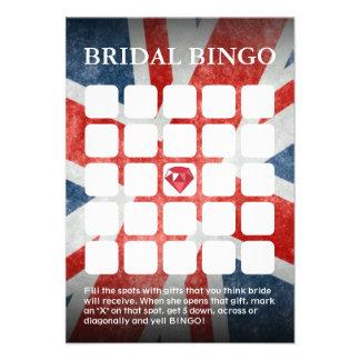 UK Flag Wedding Bridal Shower Bingo Cards