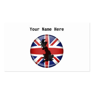 UK Globe, Your Name Here Business Card Templates