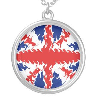 UK Gnarly Flag Round Pendant Necklace