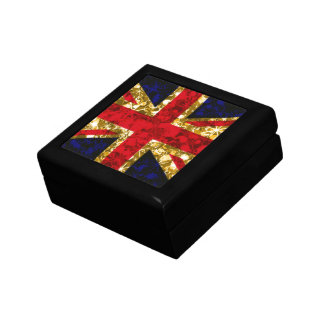 UK Gold baubles and sparkle flag glamour gift box