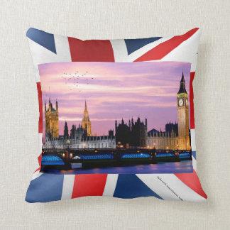 UK landmark image for Throw-Cushion Throw Pillow
